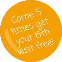 Come 5 times get your 6th free!